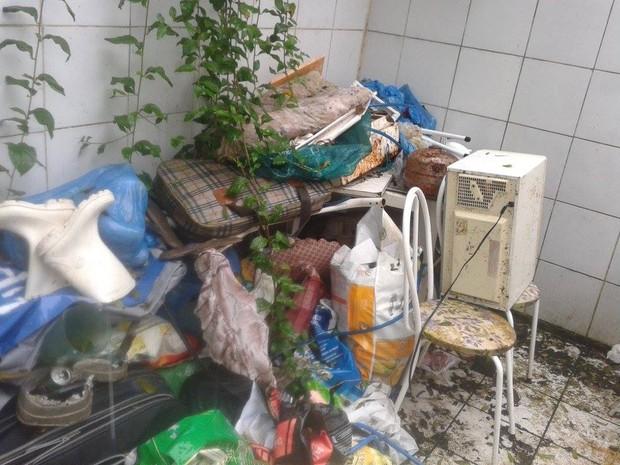 Mulher acumulava objetos e lixo em casa e mantinha 30 cachorros (Foto: Paula Jabur Elias/Arquivo Pessoal)