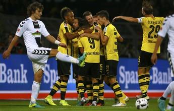 Borussia bate Freiburg, chega a 24 jogos invicto em casa e lidera Alemão