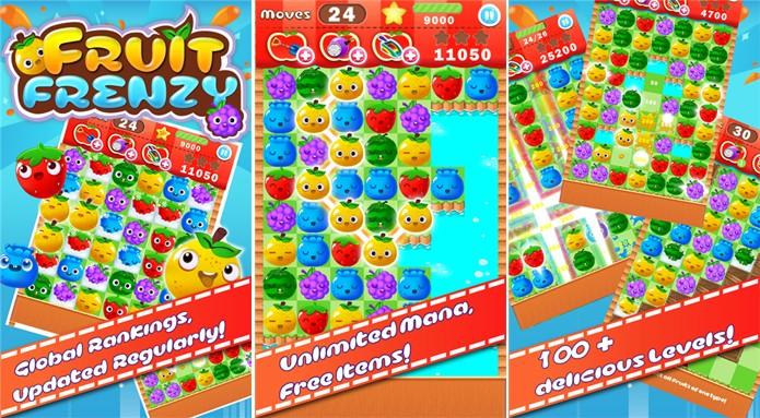 Fruit Frenzy é um quebra-cabeça para Windows Phone com diferentes objetivos (Foto: Divulgação/Windows Phone Store)