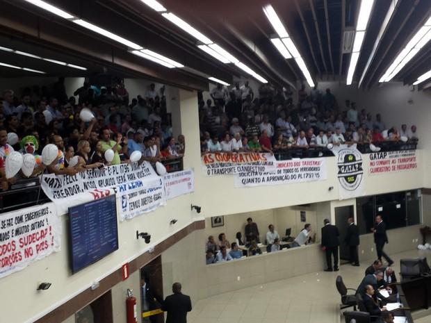 Vereadores aprovam projeto de lei que proíbe o Uber em Belo Horizonte (Foto: Flávia Cristini/G1)