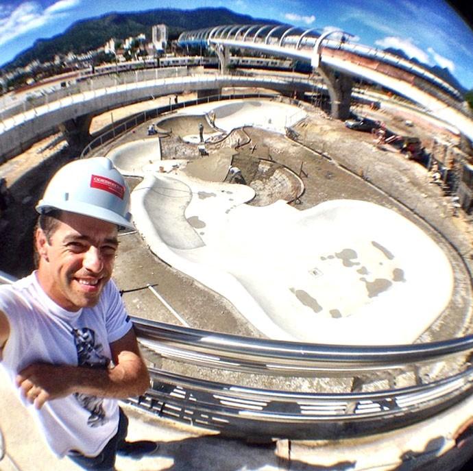 Sandro Dias na pista de skate do Maracanã (Foto: Reprodução / Instagram)