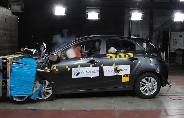 Hyundai HB20 obtém três estrelas na proteção a adultos e uma quando se trata de crianças (Foto: Divulgação)