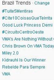 Trending Topics no Brasil às 17h09 (Foto: Reprodução)