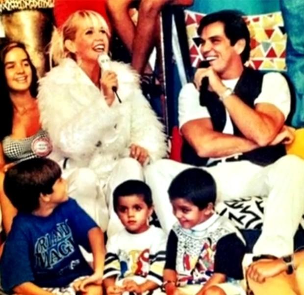 Família Simas reunida em primeiro programa na TV (Foto: Vídeo Show / TV Globo)