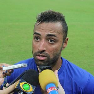 Jr. Paraíba foi um dos mais criticados pela torcida do Nacional (Foto: Marcos Dantas)