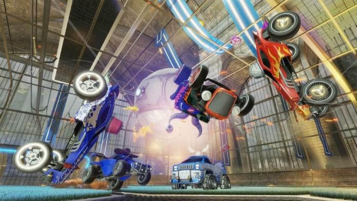 Rocket League inova ao misturar carros de corrida com futebol (Divulgação/Sony) (Foto: Rocket League inova ao misturar carros de corrida com futebol (Divulgação/Sony))