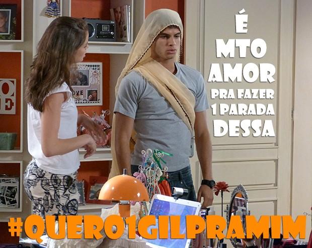 É mto amor mesmo, Gil! (Foto: Malhação / TV Globo)