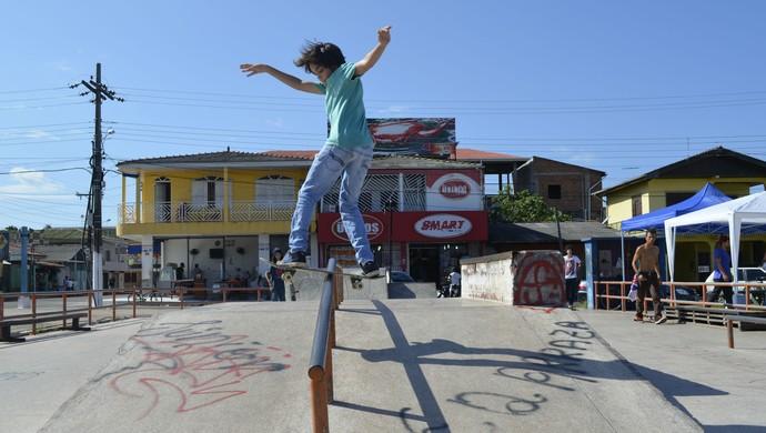 Manobras radicais e adrenalina no Municipal de skate, em Macapá (Foto: Foto: Jonhwene Silva/ GE-AP)