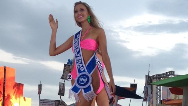 Candidata de Taquara é escolhida Garota Verão (Gabriela Leoblen/G1)