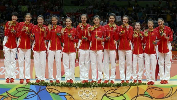 China, ouro no vôlei feminino na Rio 2016 (Foto: REUTERS/Yves Herman)