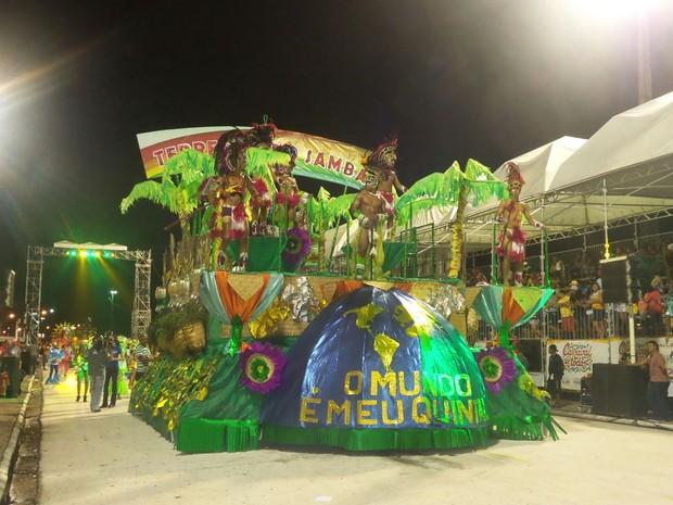 Carros da Terrestre do Samba utilizaram materiais recicláveis (Foto: Divulgação / Prefeitura de São Luís)