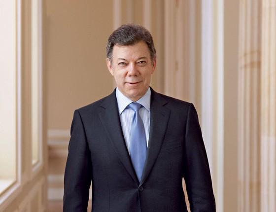 Juan Manuel Santos presidente da Colombia (Foto: Piers Calvert/Redux)