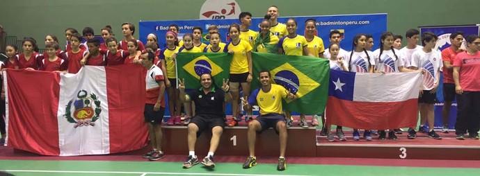 Sul-Americano de Badminton, em Lima, Peru (Foto: Divulgação da CBBd)