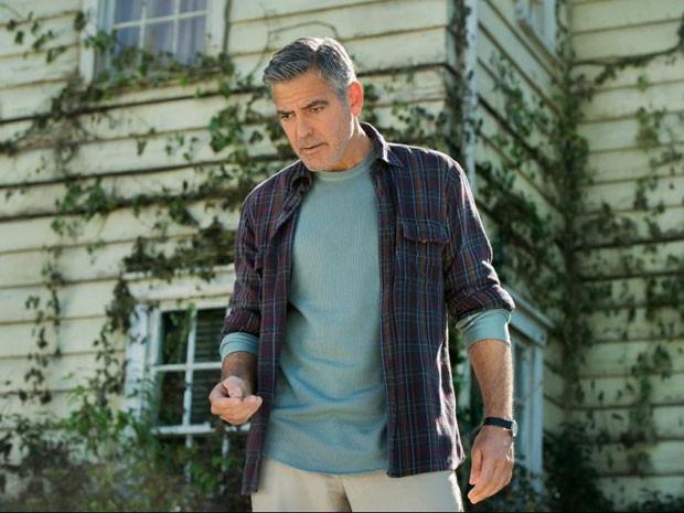 George Clooney em cena da superprodução da Disney 'Tomorrowland' (Foto: Divulgação)