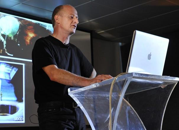 Kevin Phipps falou de sua experiência no cinema em palestra realizada nesta sexta-feira, dia 21, aos colaboradores da Rede Globo (Foto: Renato Rocha Miranda/ TV Globo)