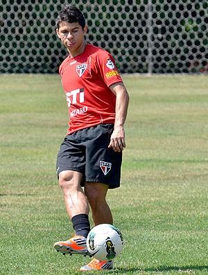 Osvaldo no treino do São Paulo (Foto: João Pires / Vipcomm)