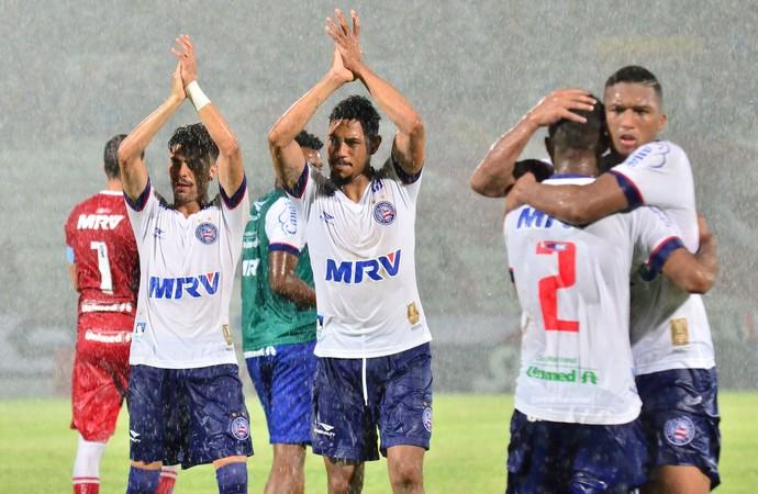 Hernane Bahia comemoração Santa Cruz Copa do Nordeste (Foto: Futura Press)