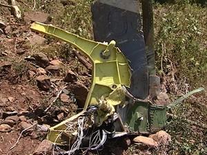Piloto morreu na hora em acidente  (Foto: Wilmar Zonella/RBS TV)