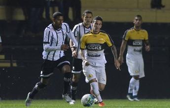Bragantino sai na frente, mas Criciúma arranca empate no Heriberto Hülse