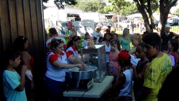 RPC TV na Praça Foz (Foto: Divulgação/RPC TV)