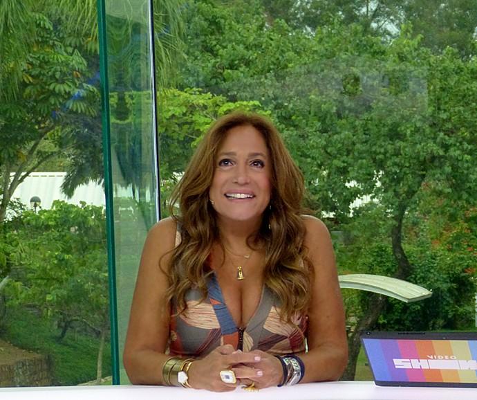 Susana Vieira ouve declaração de amor do filho Rodrigo (Foto: Cristina Cople / Gshow)