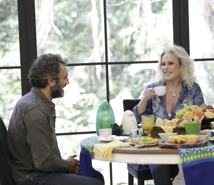 Momento descontraído durante o café da manhã no 'Mais Você' (Foto: Artur Meninea/Gshow)