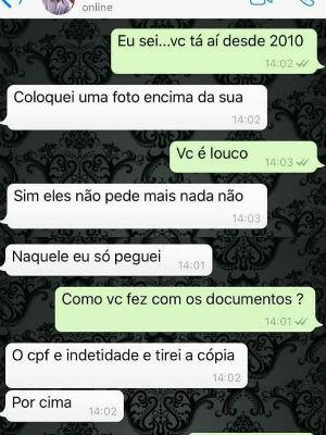 print conversa médico falso São Fracisco de Sales (Foto: Elmer Mattos/Arquivo Pessoal)