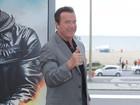 Arnold Schwarzenegger promove evento com famosos saradões no Rio