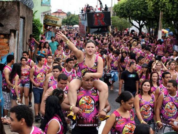 Foliões no bloco Gale Elétrico, que sai nas primeiras horas da manhã de domingo. (Foto: Rodolfo Oliveira/Agência Pará)