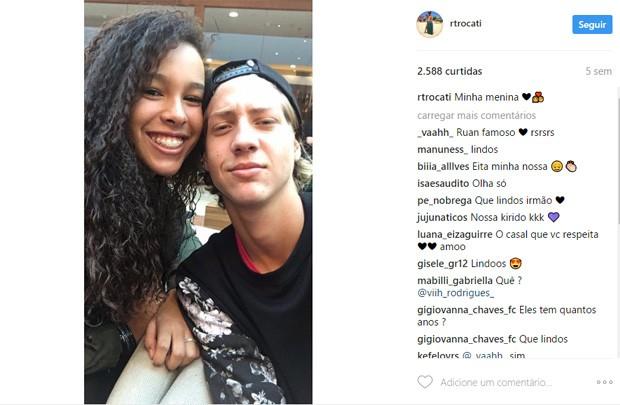 Júlia Olliver e Ruan Trocati (Foto: Reprodução/Instagram)