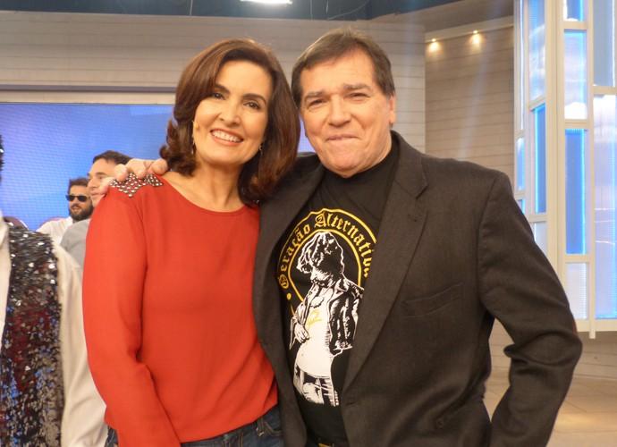Com o cantor Jerry Adriani (Foto: Gshow)