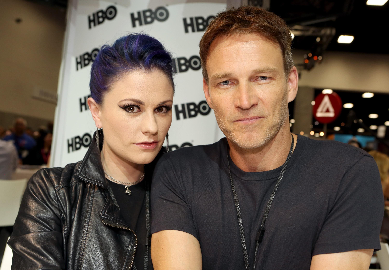 Os atores de 'True Blood' casaram-se em Malibu, California, numa residência privada em Agosto de 2010. (Foto: Getty Images)