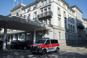 Hotel Baur au Lac Suíça Fifa polícia - AP (Foto: AP)