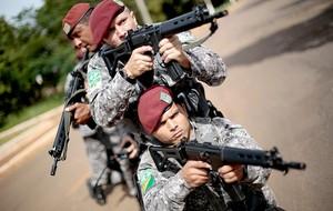treinamento segurança Copa do Mundo em Brasília (Foto: Reuters)