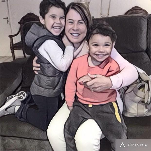 Zilu Camargo e os netos (Foto: Reprodução / Instagram)