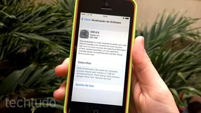 iOS 8 chega para usuários de iPhone e iPad; saiba como instalar (Foto: Barbara Mannara/TechTudo)