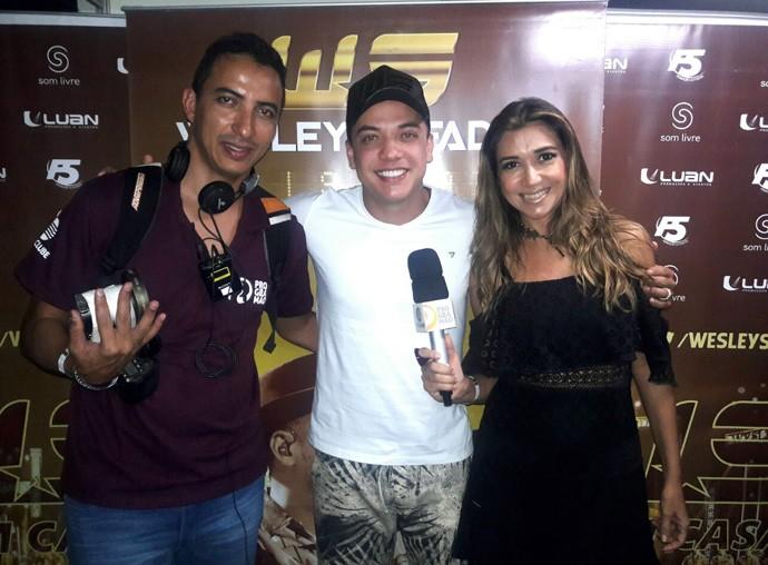 'Programão' foi a Aracaju para um bate papo exclusivo com Wesley Safadão (Foto: Gshow Rede Clube)