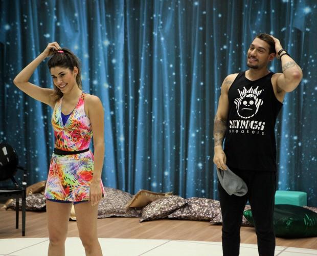 A sintonia entre Lucas e Ana Paula é nota 10 (Foto: Carol Caminha / TV Globo)