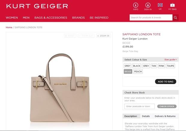 Bolsa usada por Sienna Miller custa R$ 597  (Foto: Reprodução do Instagram)
