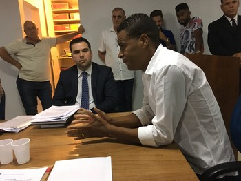 Julgamento Gama x Brasiliense - Dudu Gago (Foto: Fabrício Marques)