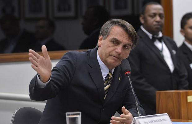 Jair Bolsonaro em depoimento ao Conselho de Ética da Câmara dos Deputados (Foto: Wilson Dias / Agência Brasil)