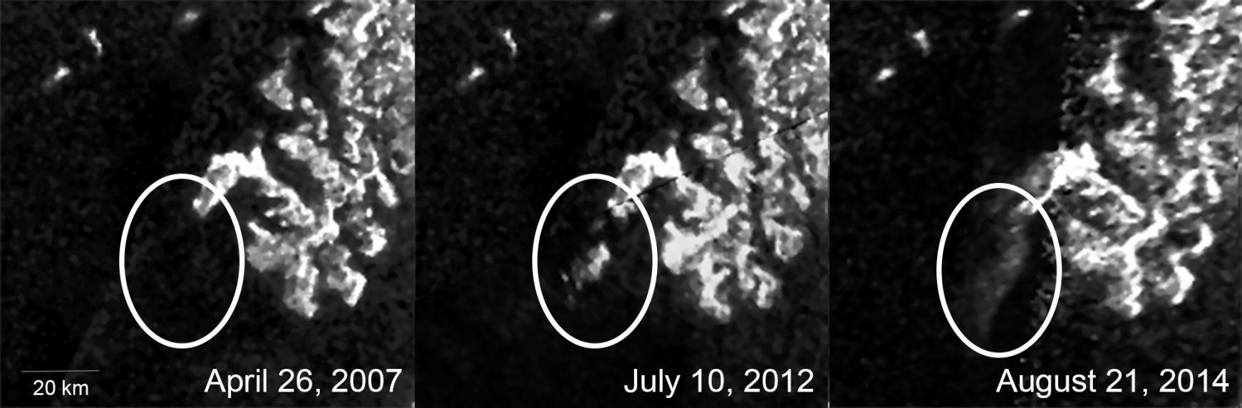 Aparecimento da mancha foi transitório nos últimos anos (Foto: NASA/JPL-Caltech/ASI/Cornell)