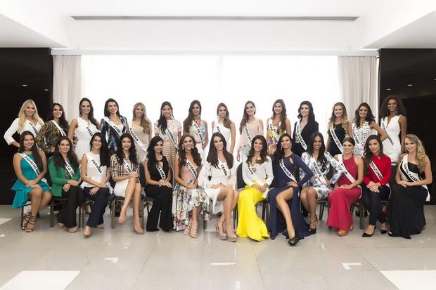 Candidatas ao Miss Brasil 2015  (Foto: Lucas Ismael / Band)