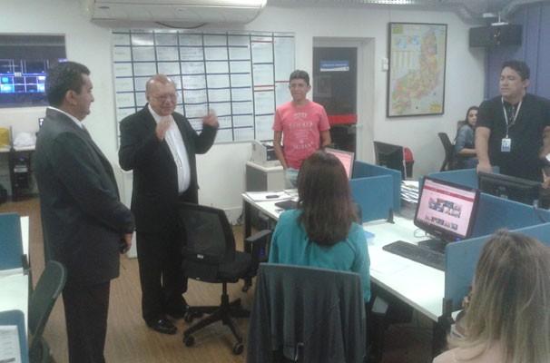 TV Clube recebe a visita do arcebispo de Teresina, Dom Jacinto Brito. (Foto: André Santos/TV Clube)
