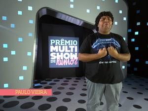 Paulo Vieira na segunda apresentação do Prêmio Multishow de Humor 2013 (Foto: Reprodução/Multishow)