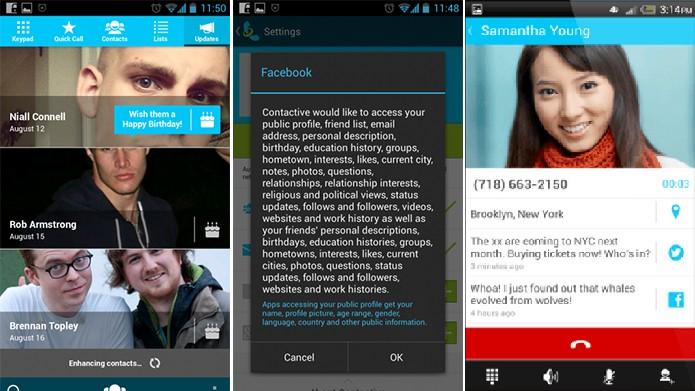 Contactive é um aplicativo completo com nome, localização e foto de pessoas desconhecidas (Foto: Divulgação/Play Store)