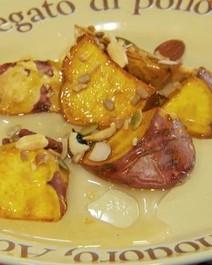 Batata doce com castanhas e mel