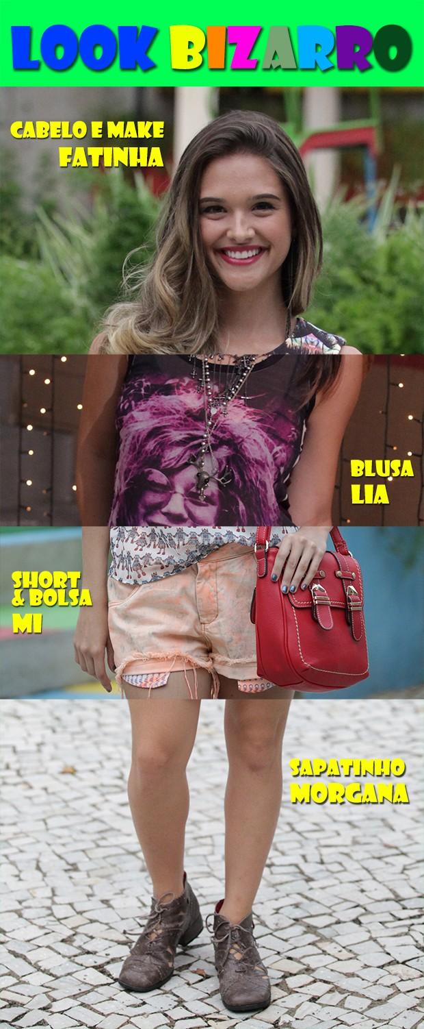 Look bizarro (Foto: Malhação / TV Globo)
