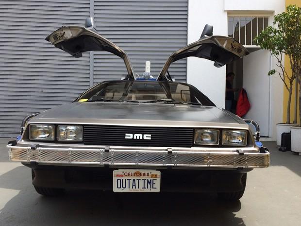 DeLorean, carro do longa 'De volta para o futuro' (Foto: Glauco Araújo/G1)