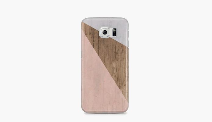 Capa com estampa de madeira para Samsung Galaxy S6 (Foto: Divulgação/Etsy)